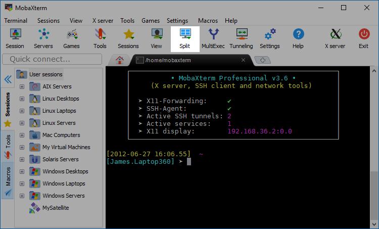 MobaXterm Xserver with SSH, telnet, RDP, VNC and X11 - Documentation